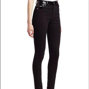 Versace patent waist skinny jeans